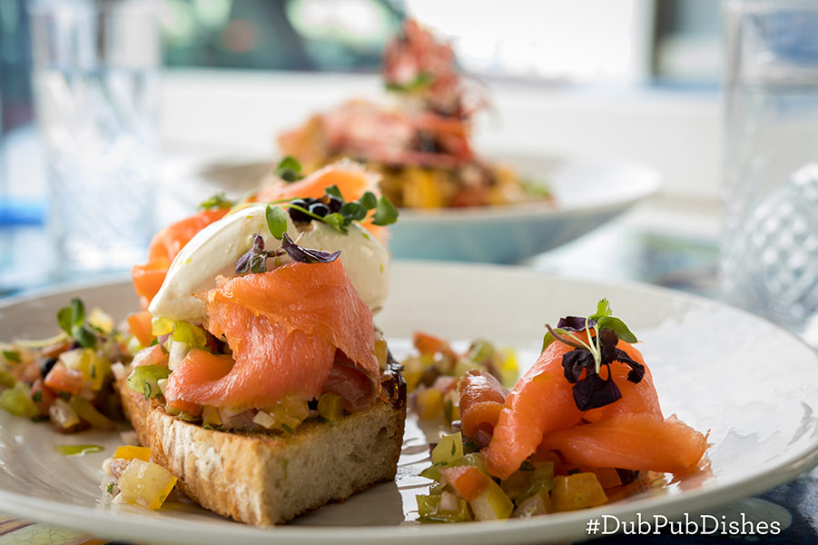 Smoked Salmon Bruschetta from the Blue Bar Skerries, Image 2 - #DubPubDishes