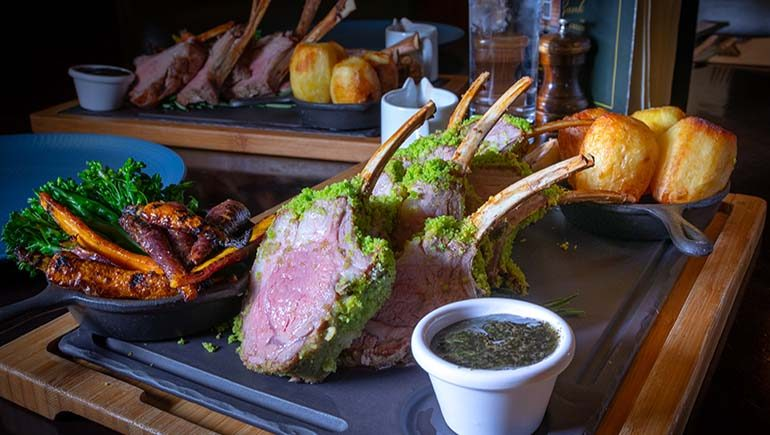 Roast Rack of Wicklow Lamb from The Bank on College Green #DubPubDishes