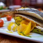 Sea Bass Rissotto from An Poitin Stil - #DubPubDishes