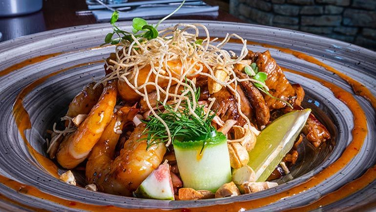Asian Salad from Brady's of Shankill - #DubPubDishes