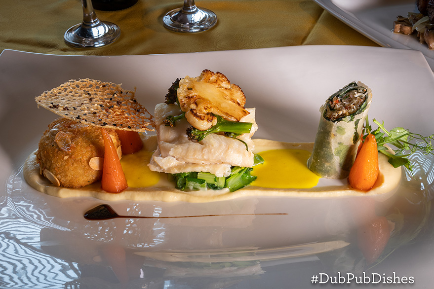 #DubPubDishes - Coconut Poached Fillet of Cod from The Brock Inn