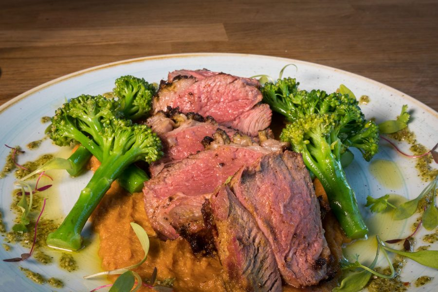 Lamb Rump and Sweet Potato Puree recipe for #DubPubDishes from The Brickyard Gastropub