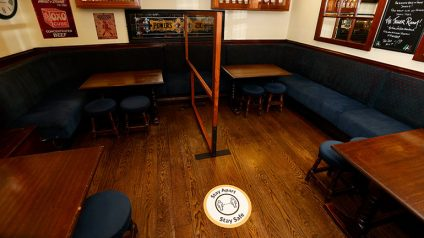 Pubs have been implementing the new guidelines ahead of reopening