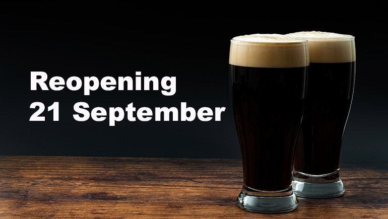 Pubs reopening 21 September