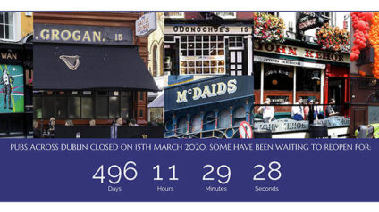 Some pubs in Dublin have been waiting to reopen for 497 consecutive days